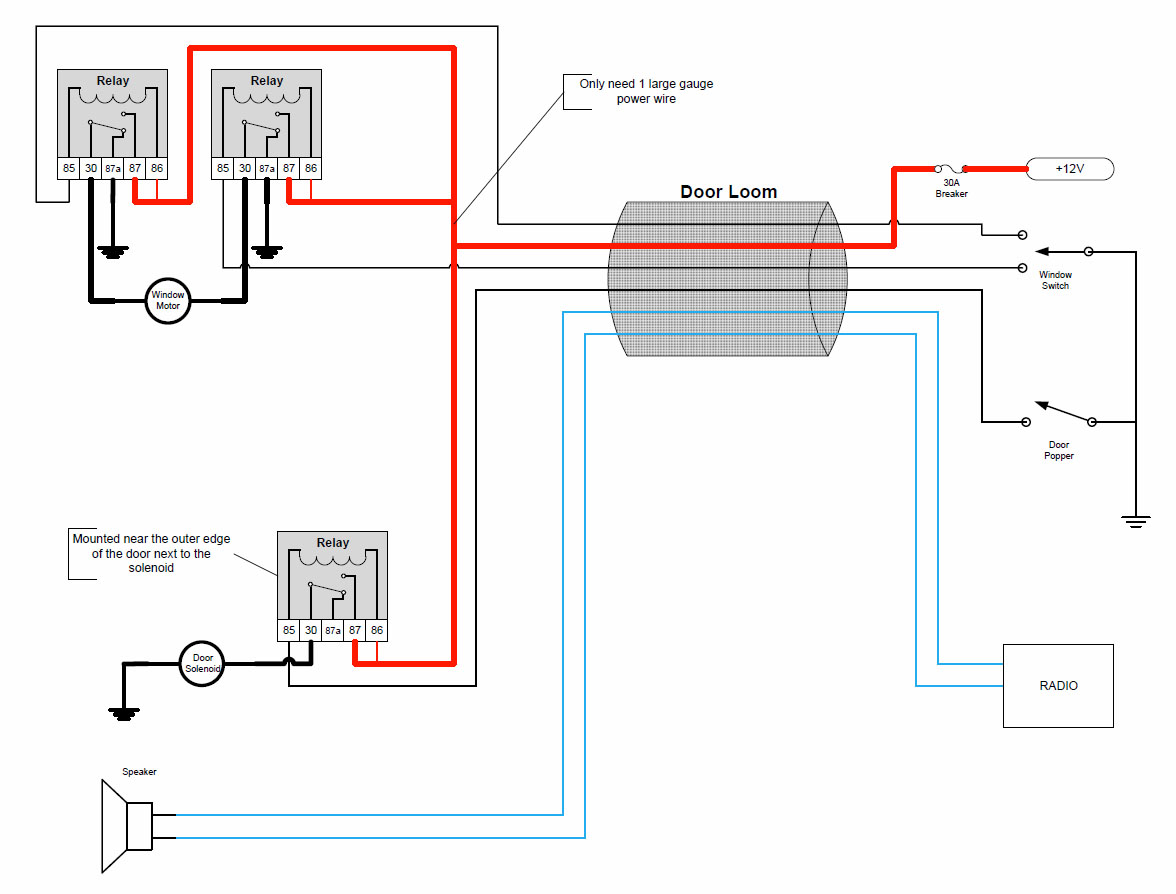 Doors_Relays door popper wiring diagram door popper relay \u2022 wiring diagrams j  at gsmportal.co